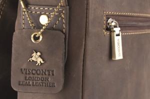 Мужские кожаные сумки Visconti