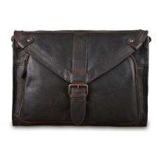 Кожаная сумка-мессенджер Ashwood Rhode Brown из вощёной кожи