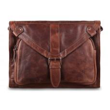 Кожаная сумка-мессенджер Ashwood Rhode Tan из вощёной кожи