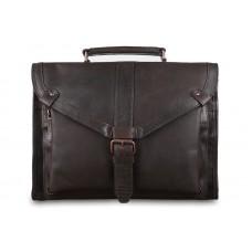 Мягкий портфель Ashwood Leather Tycho Brown из вощёной кожи