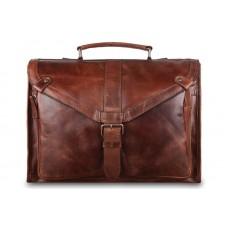Мягкий портфель Ashwood Leather Tycho Tan из вощёной кожи