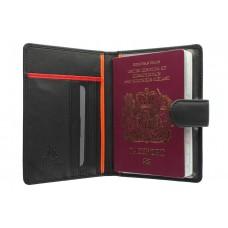 Чехол для паспорта BD-15 Black red