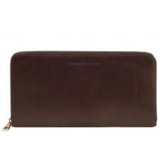 Дорожный кошелек Tuscany Leather Dark Brown