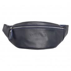 Кожаная поясная сумка Ellis Dark Blue