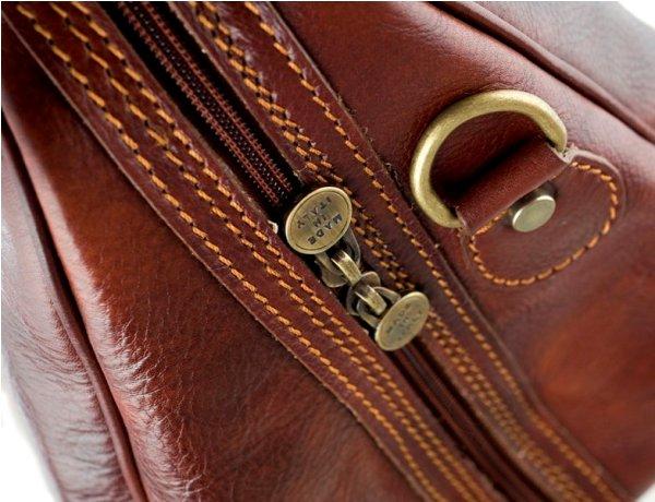 Дорожная сумка из натуральной кожи растительного дубления