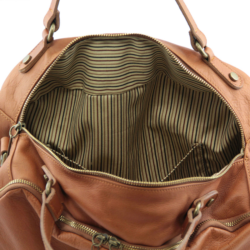женская спортивная сумка с отделением для обуви