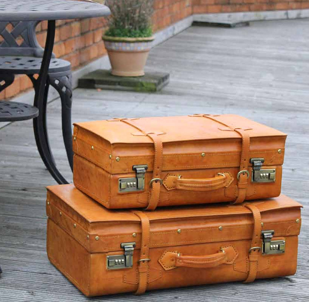 Винтажные кожаные чемоданы Ashwood