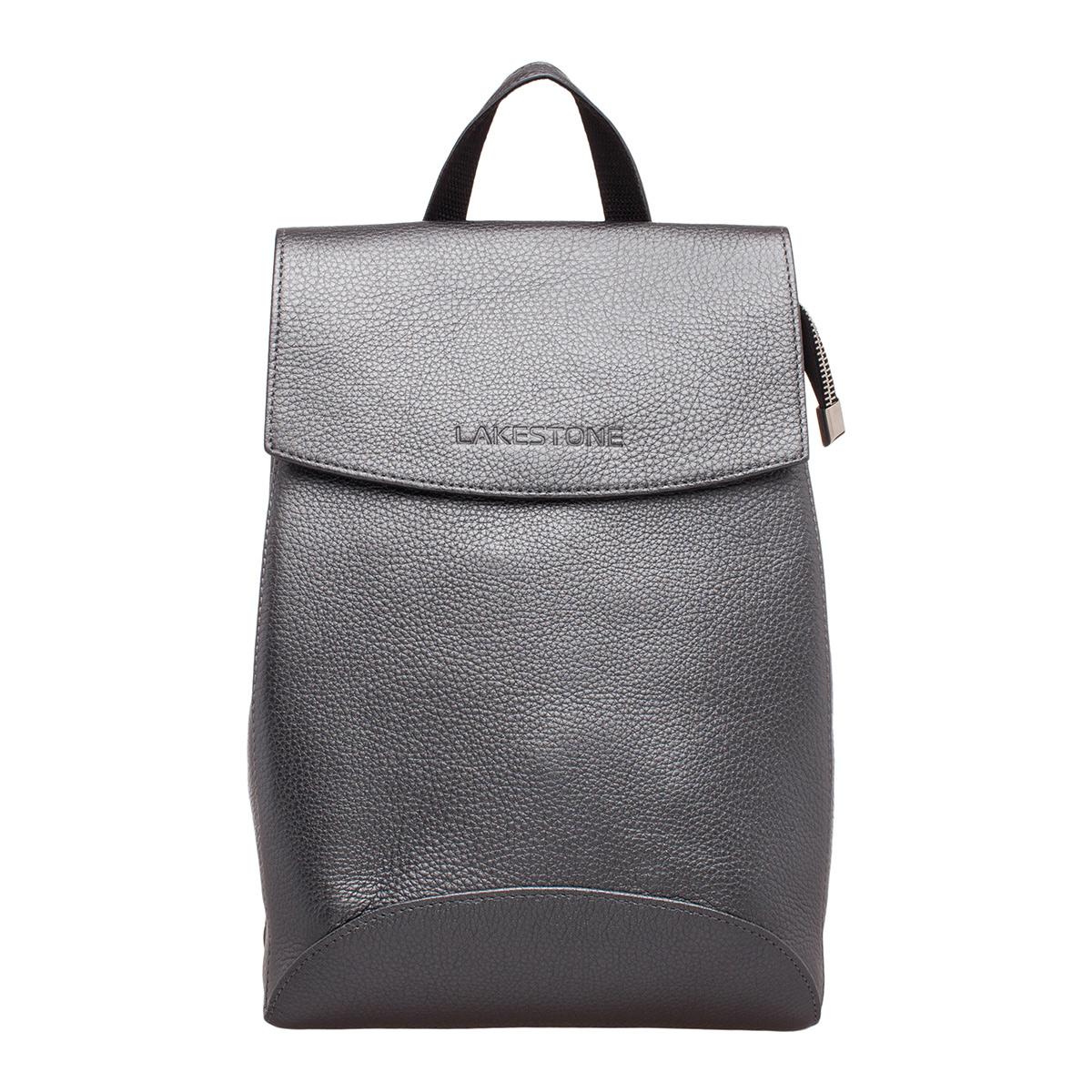 d08d798ae12b Женский кожаный рюкзак-трансформер Lakestone Ashley Silver Grey